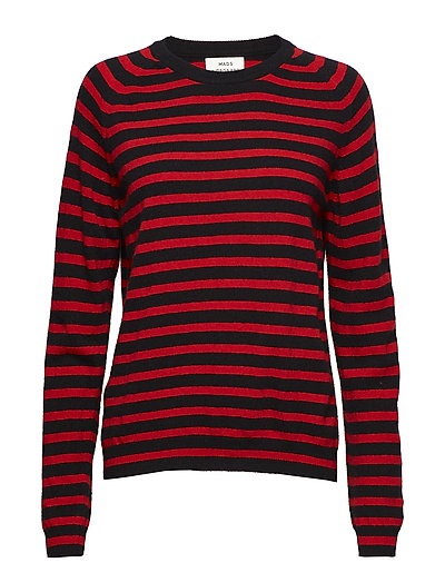 Cosy stripe Kaxa stripe - RED/BLACK