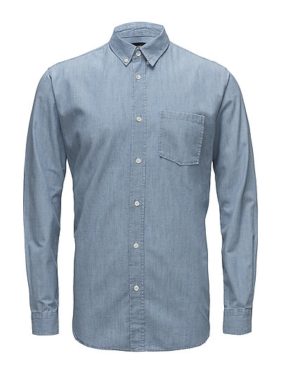 Washed Indigo Sal Button Down - INDIGO BLEACH