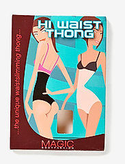 Magic Bodyfashion - Hi Waist Thong - bottoms - black - 2