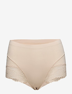 Tummy Squeezer with Lace - LATTE