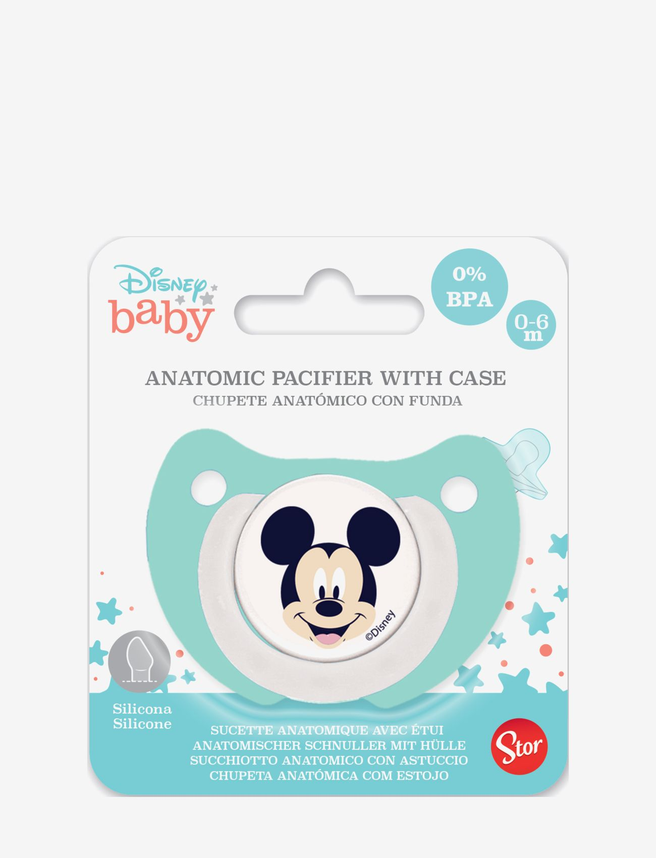 Disney Baby orthodontic pacifier silicone 0-6m Mickey