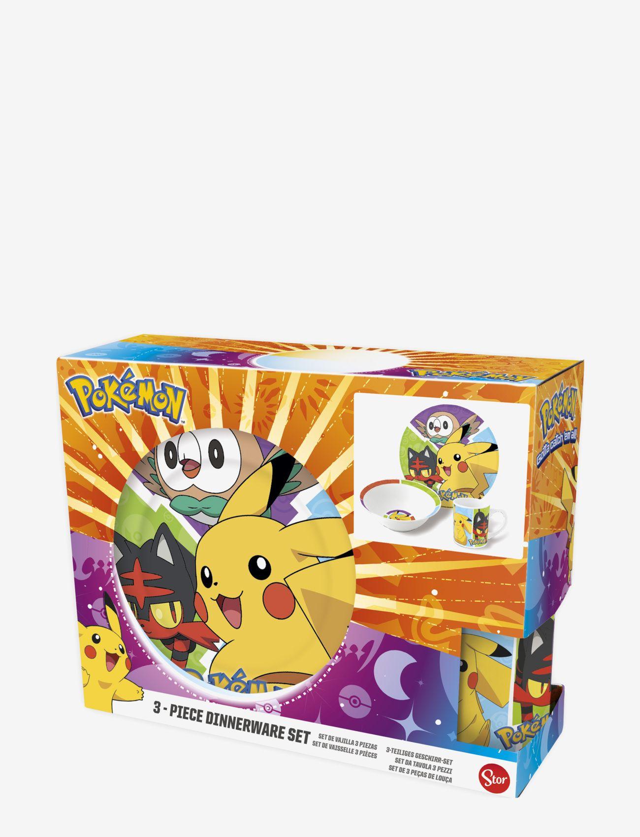 Pokemon 3 pcs offset snack set, ceramic