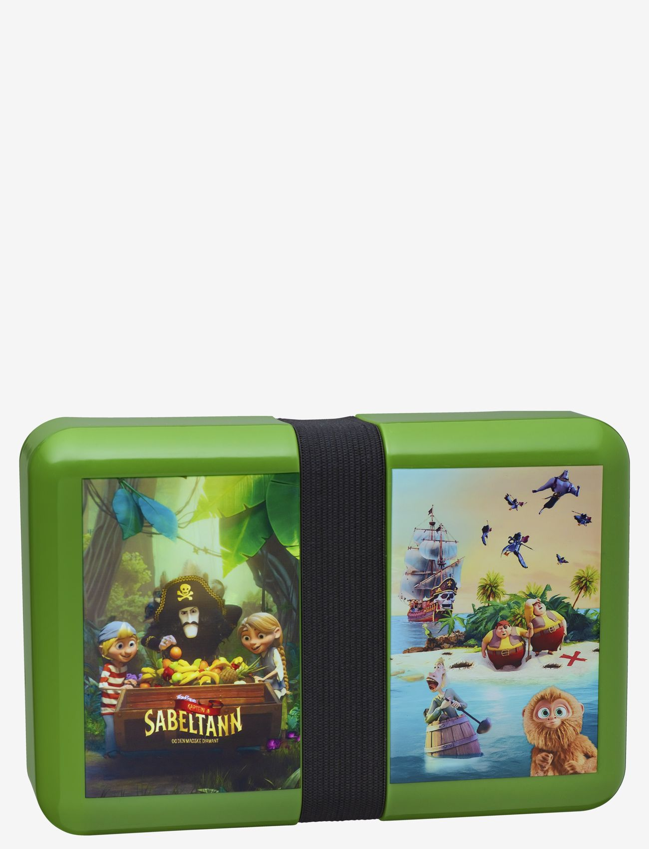 Captain Sabertooth Lunch box with string