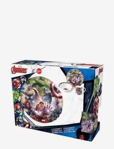 Avengers 3 pcs offset snack set, ceramic - vaisselle - multi coloured