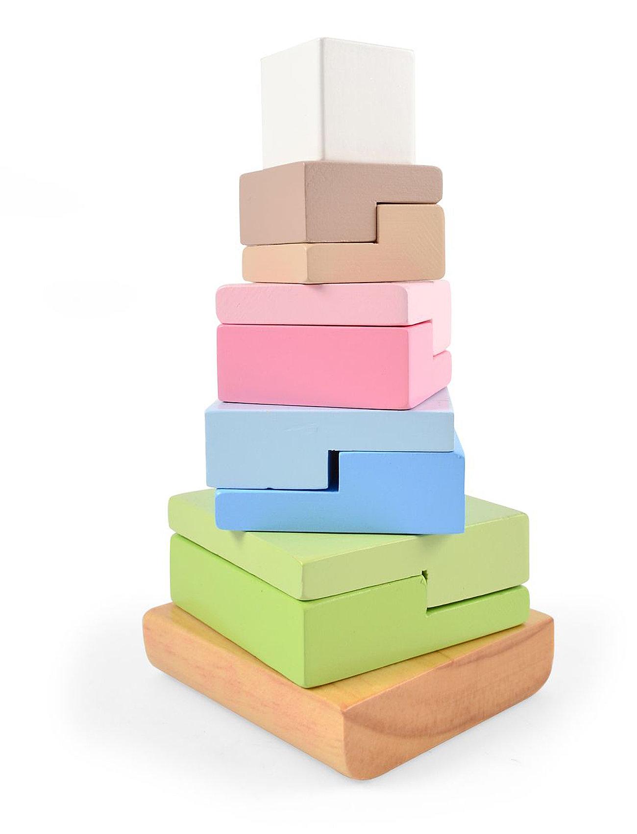 Stack tower, square blocks