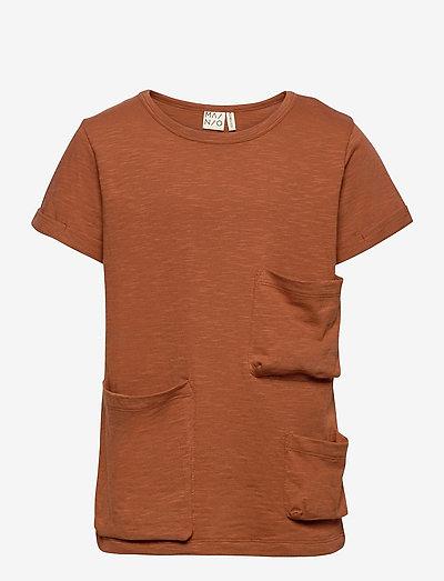 Slub pocket T-shirt - t-shirts - bombay brown