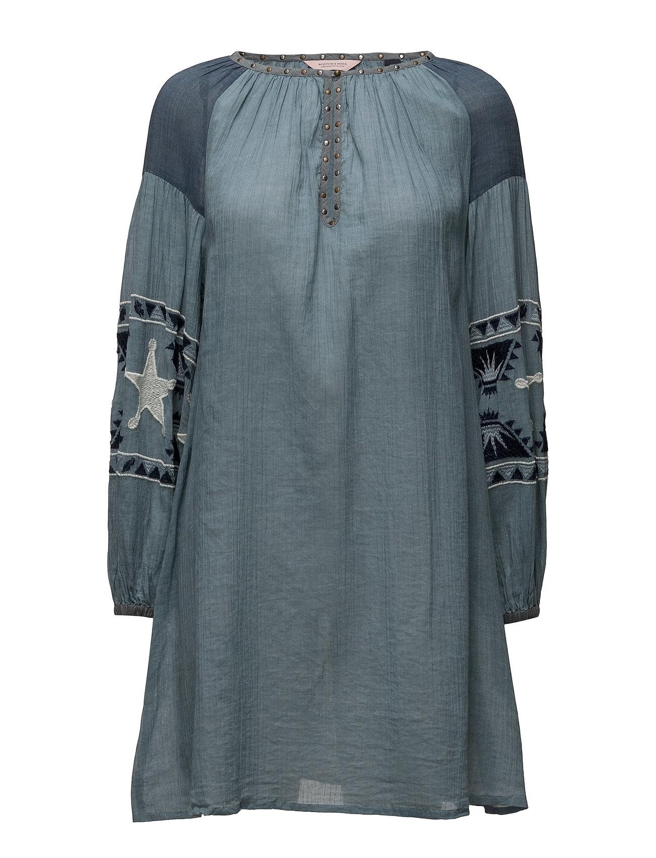 Scotch & Soda Sheer cotton tunic dress with special embroideries Klänningar