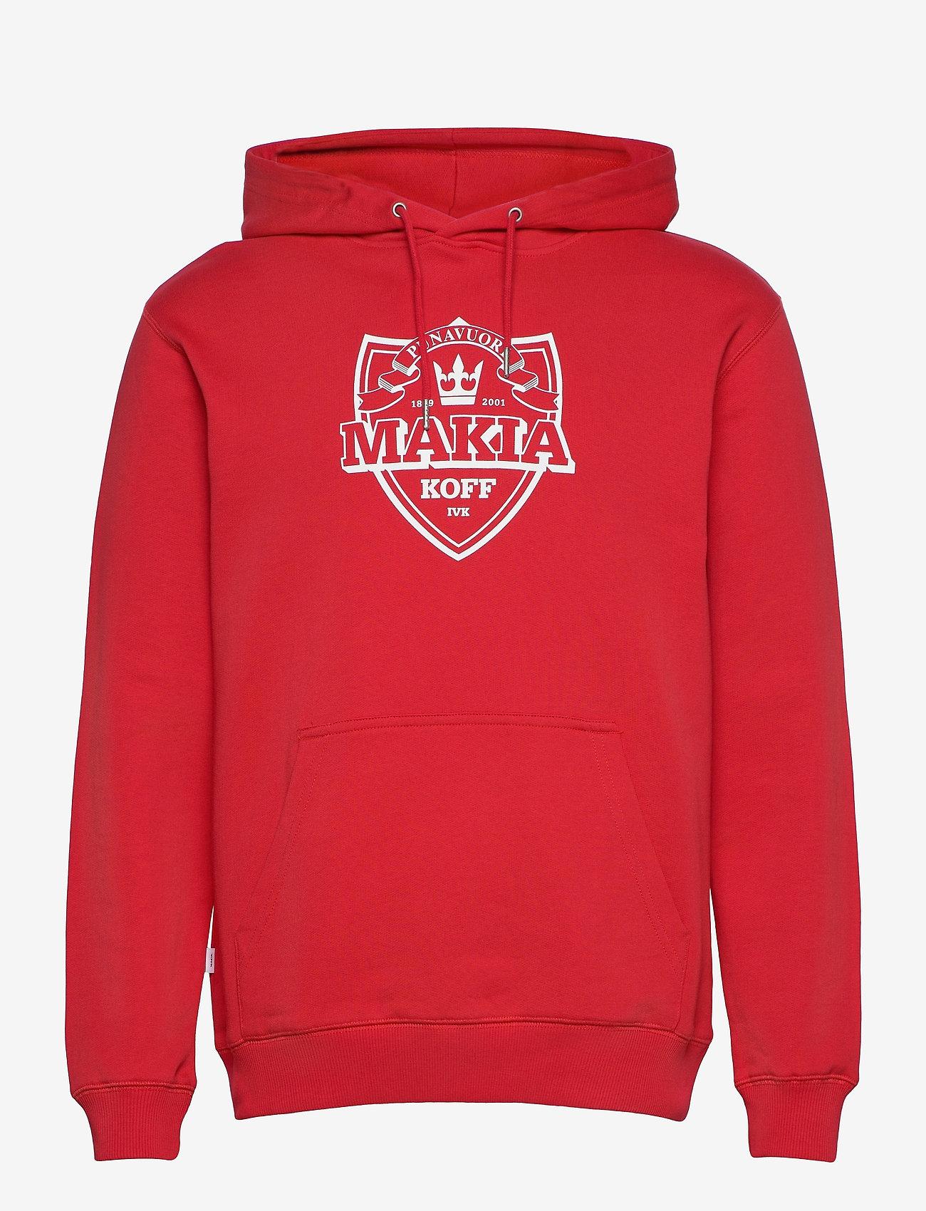 Makia - Shield Hooded Sweatshirt - hoodies - red - 0