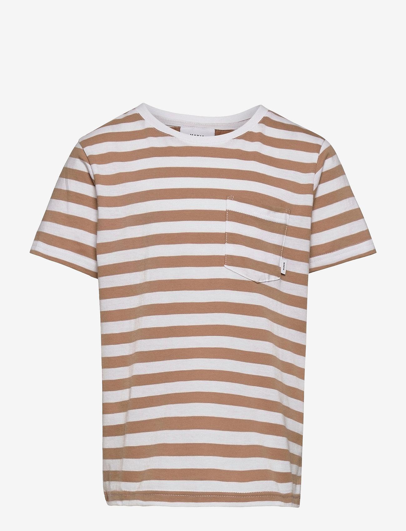 Makia - Verkstad T-Shirt - korte mouwen - camel-white - 0