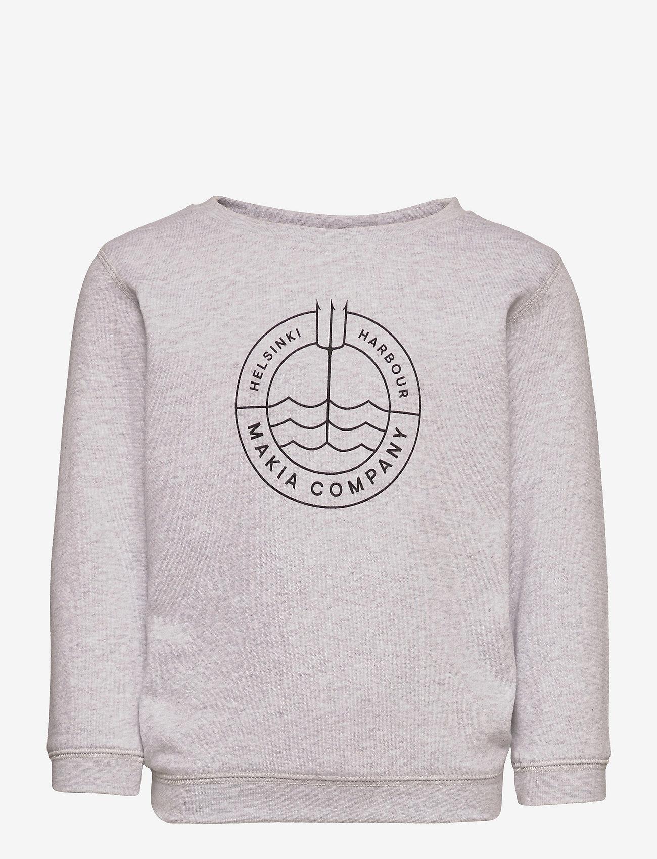 Makia - Trident Sweatshirt - sweatshirts - light grey - 0