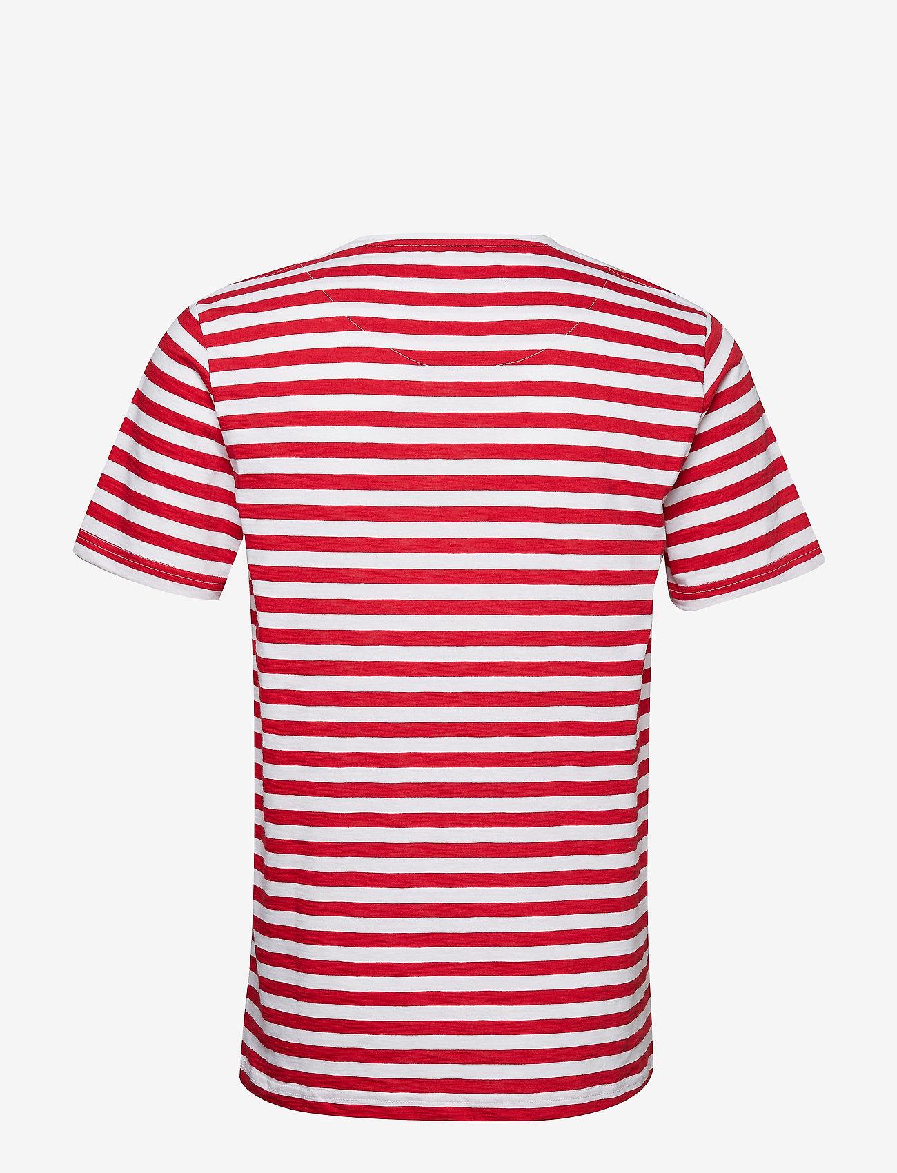 Makia VERKSTAD T-SHIRT - T-skjorter RED - WHITE - Menn Klær
