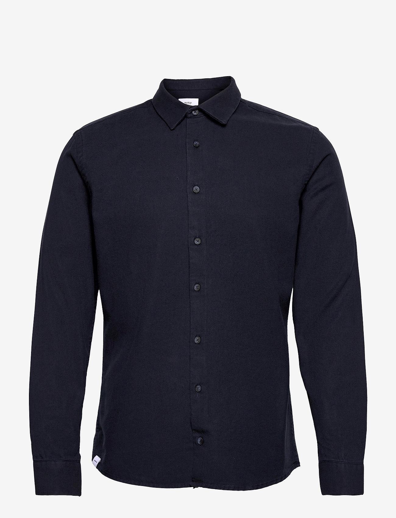 Makia - Svart Shirt - formele overhemden - dark navy - 0