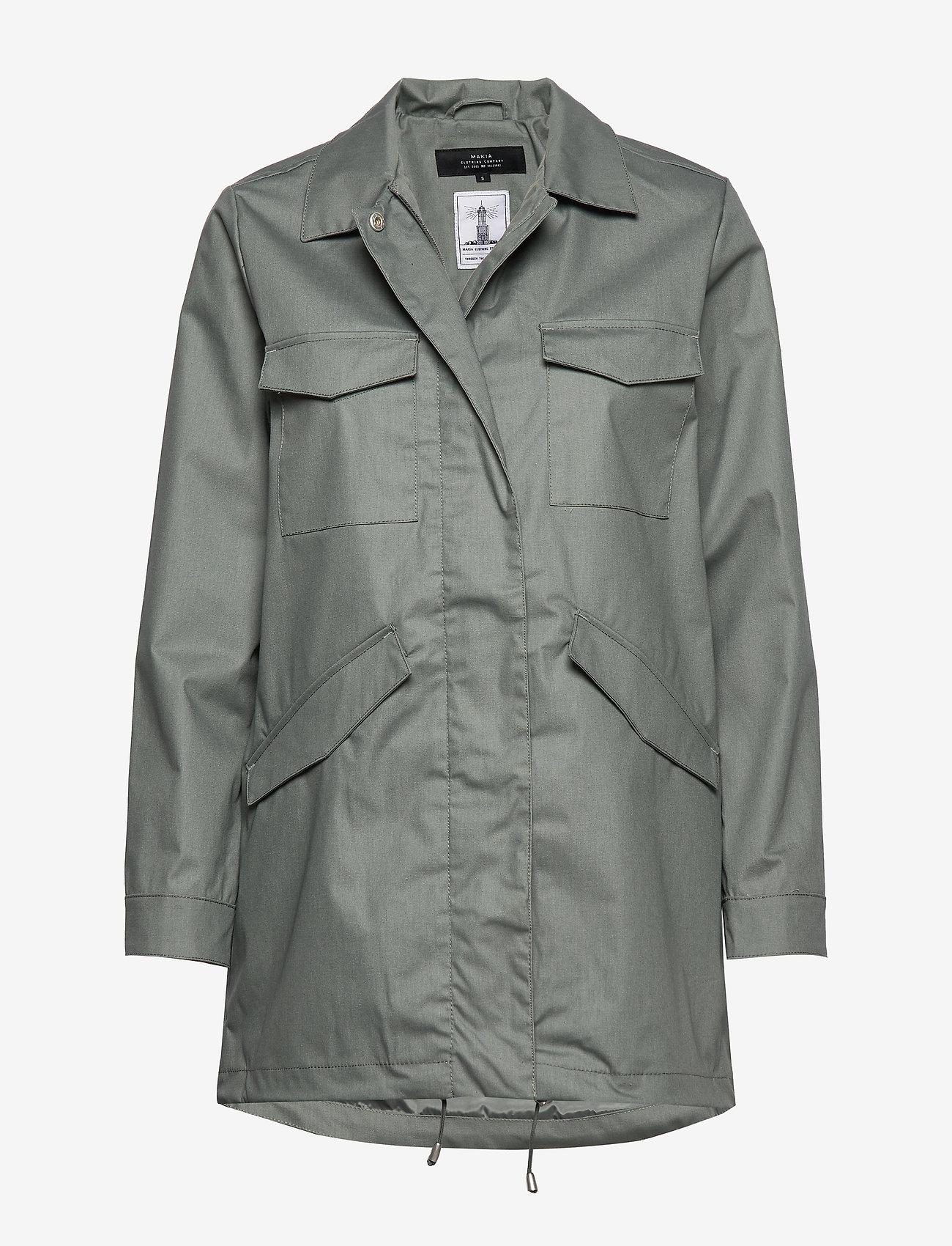 Makia - UTILITY JACKET - regnkläder - olive - 0