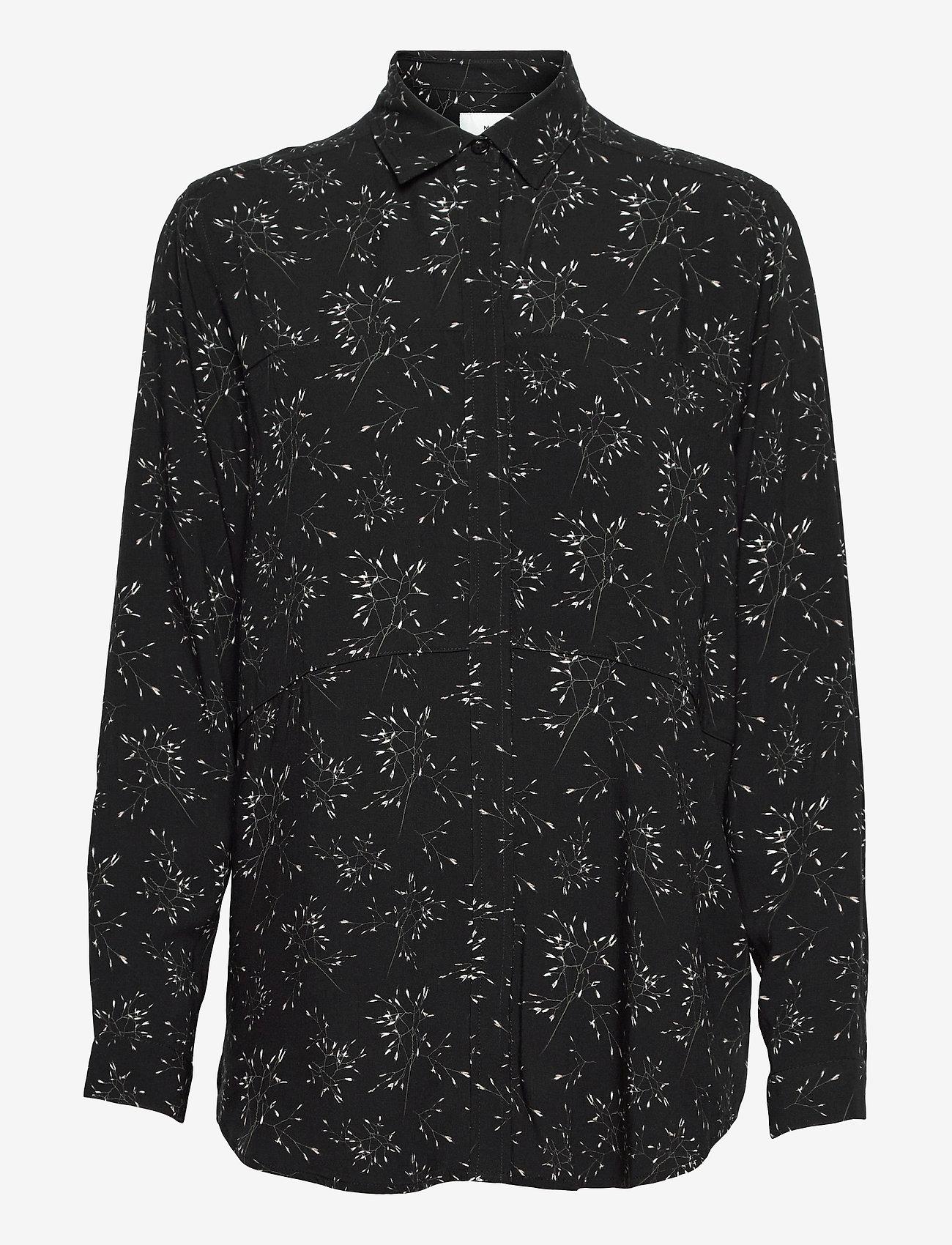 Makia - Mist Shirt - långärmade skjortor - black hay - 1