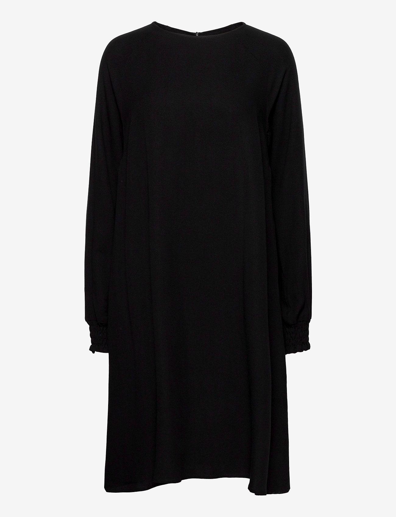 Makia - Nominal Long Sleeve Dress - midi kjoler - black - 0