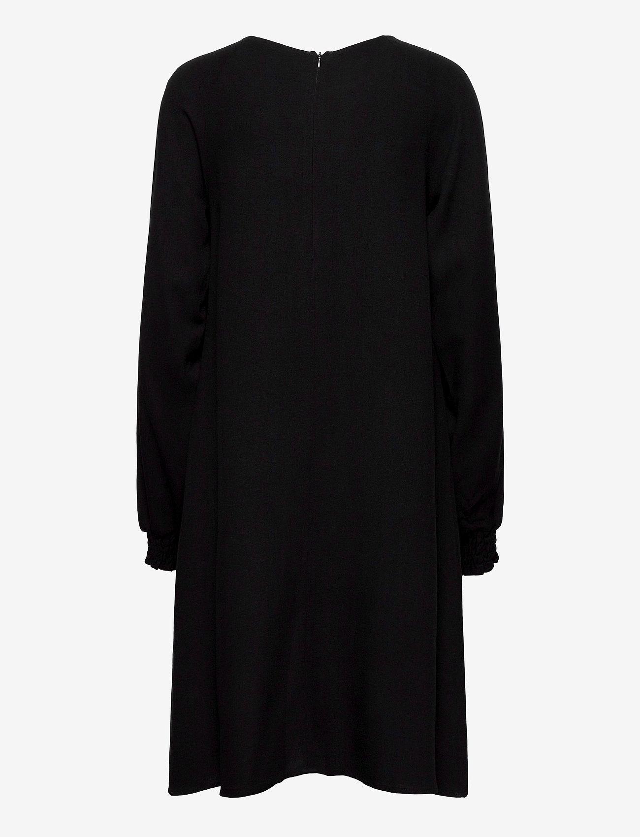 Makia - Nominal Long Sleeve Dress - midi kjoler - black - 1