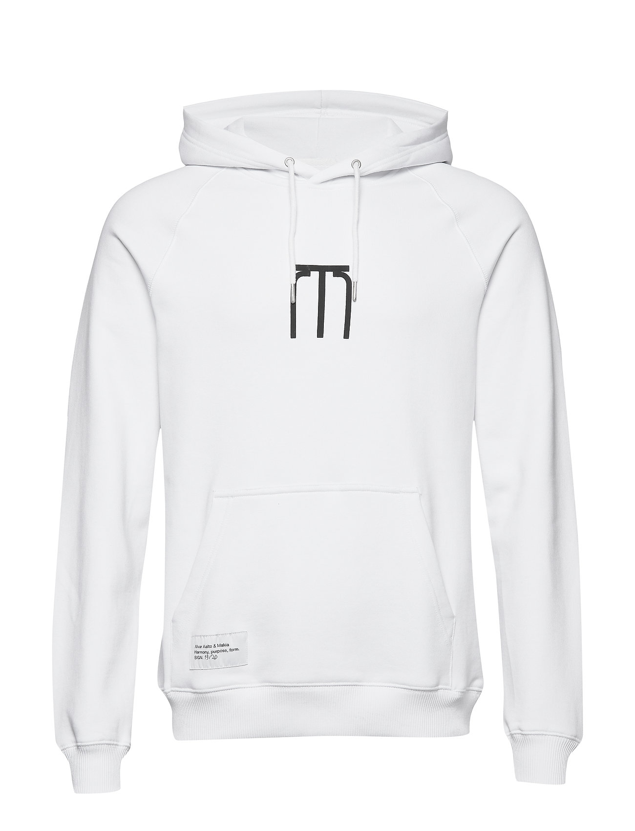 Makia Stool Hooded Sweatshirt - WHITE