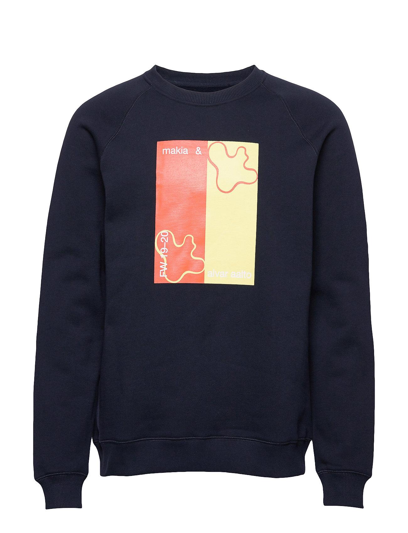 Makia Lines Sweatshirt - DARK BLUE