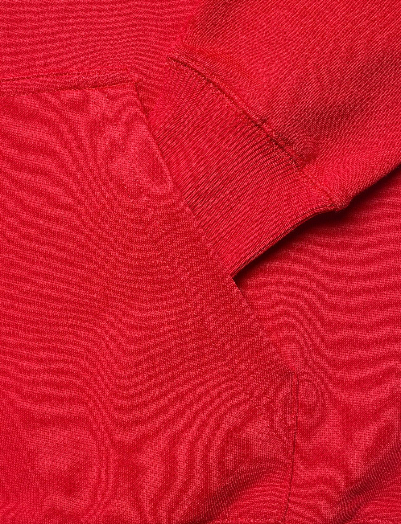 Makia - Shield Hooded Sweatshirt - hoodies - red - 3