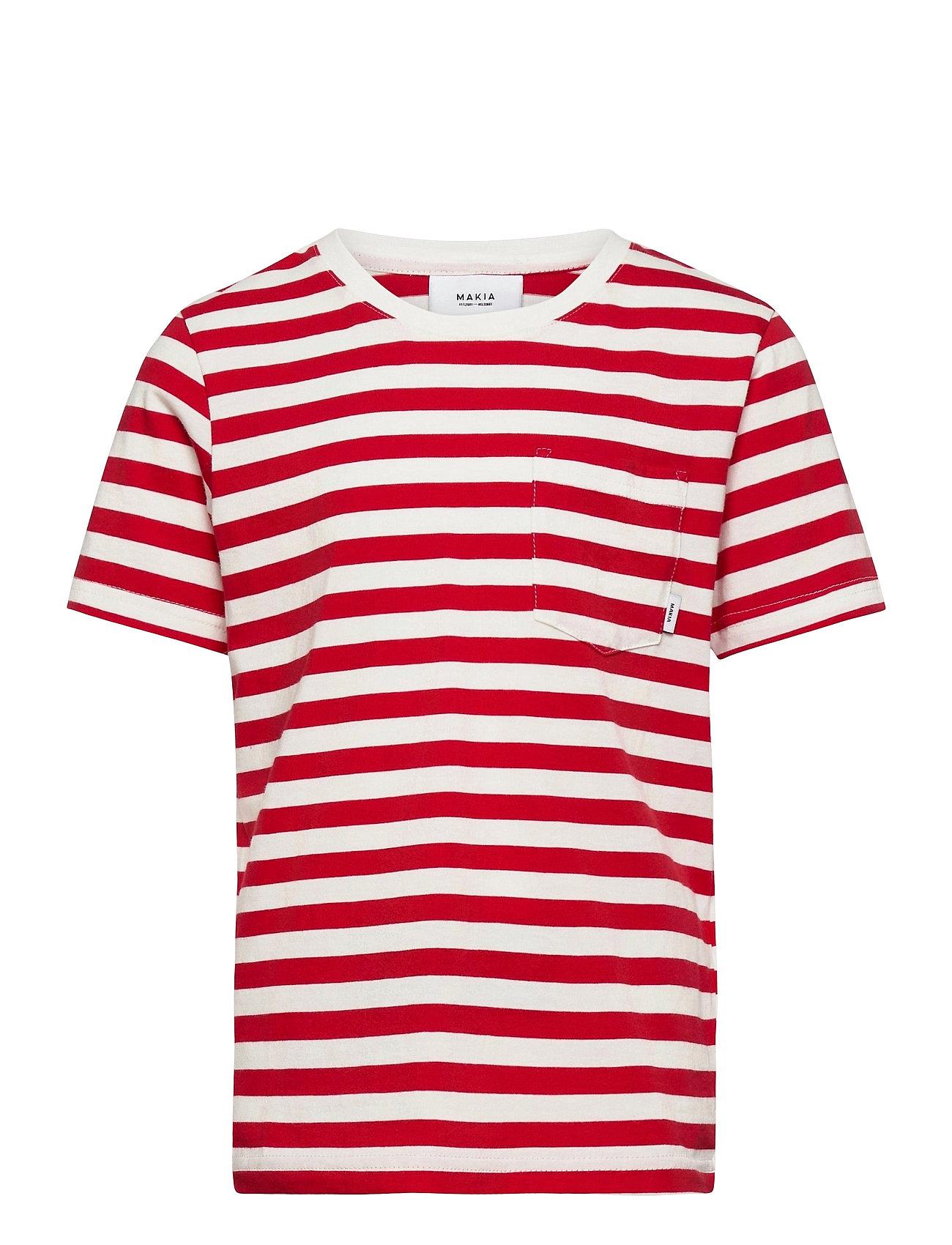 Makia - Verkstad T-Shirt - korte mouwen - red-white - 0