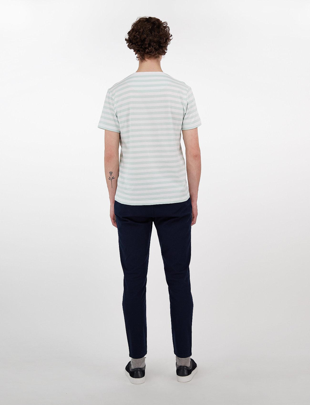 Makia VERKSTAD T-SHIRT - T-skjorter MINT-WHITE - Menn Klær