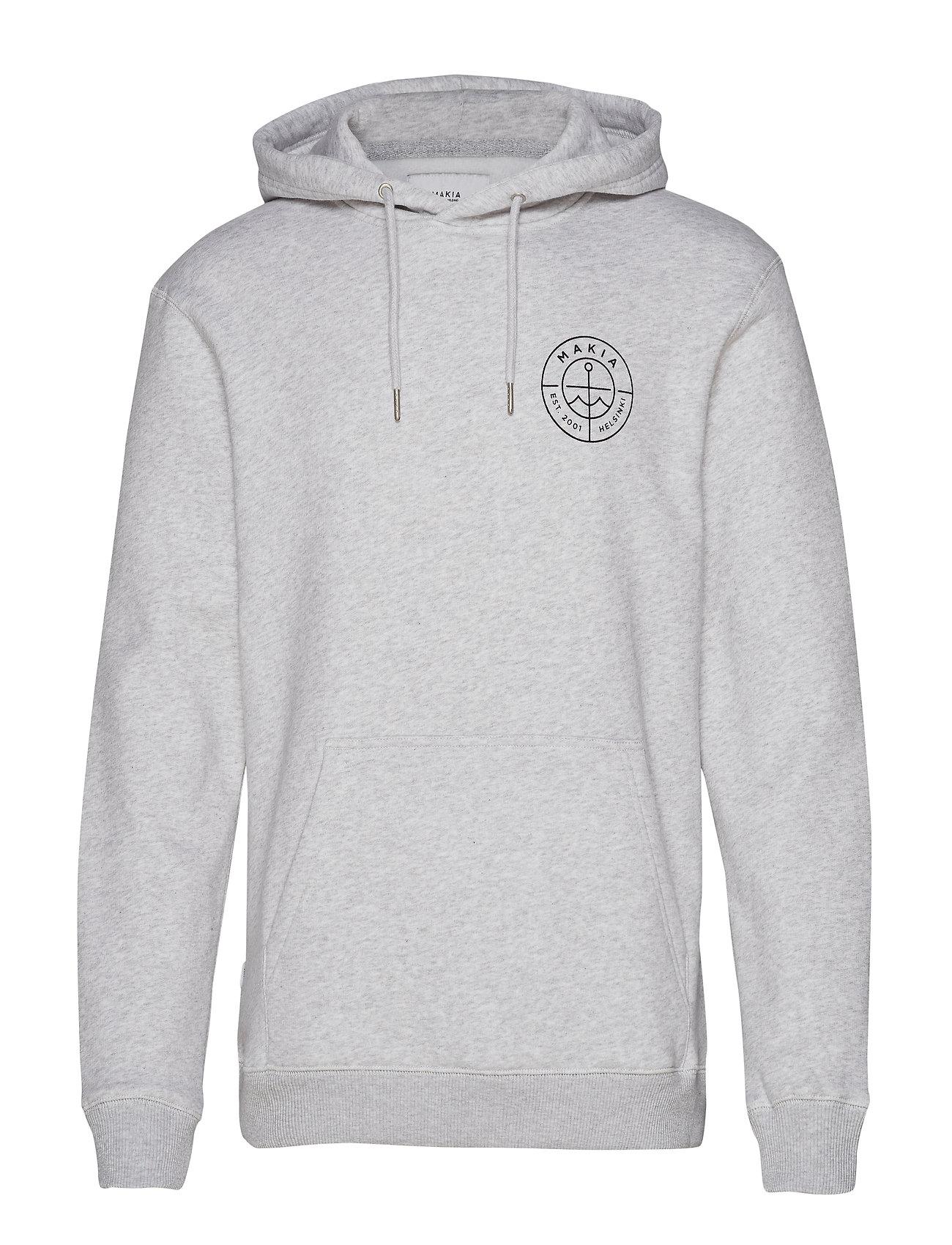 Makia Range Hoooded Sweatshirt - LIGHT GREY