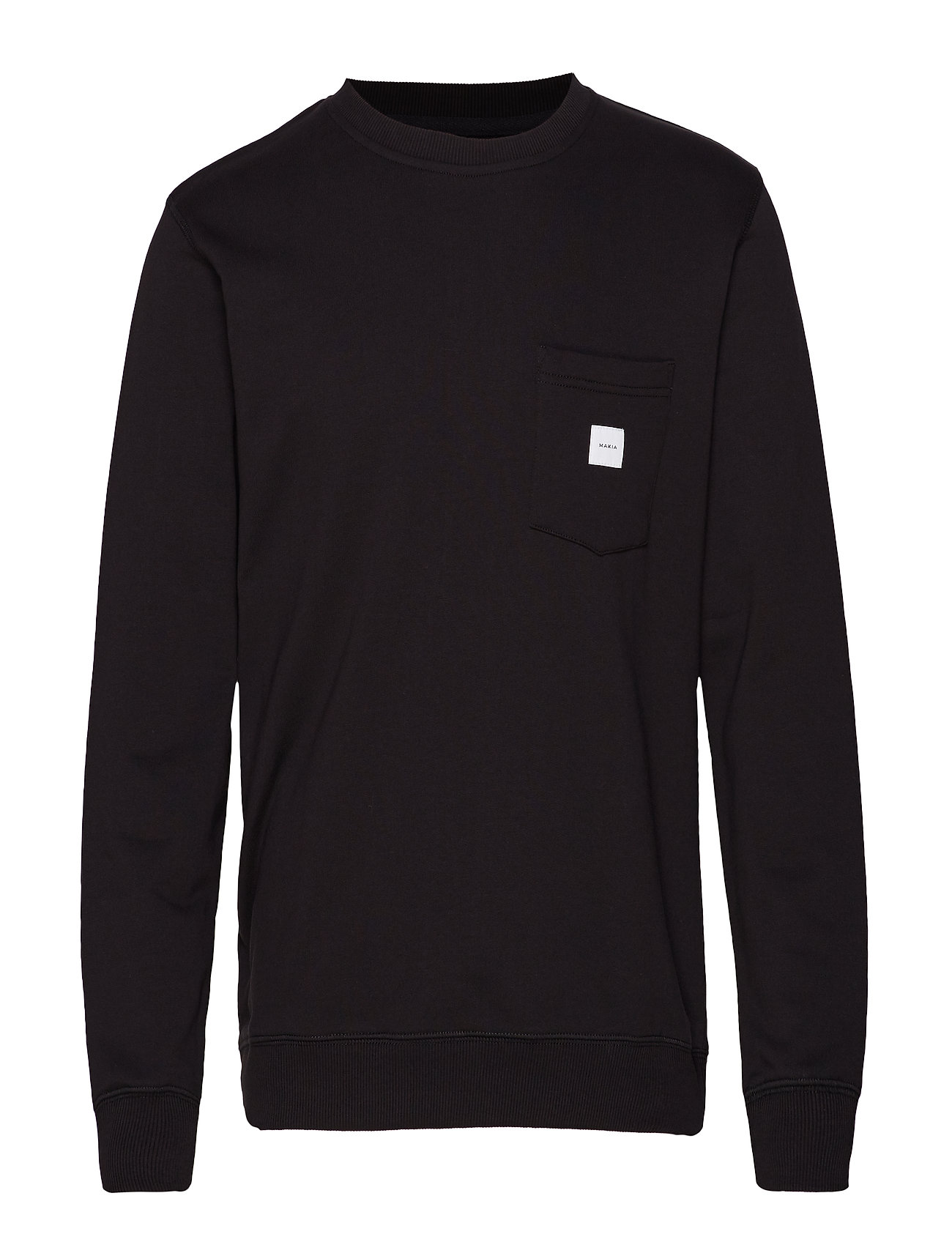 Makia SQUARE POCKET SWEATSHIRT - BLACK
