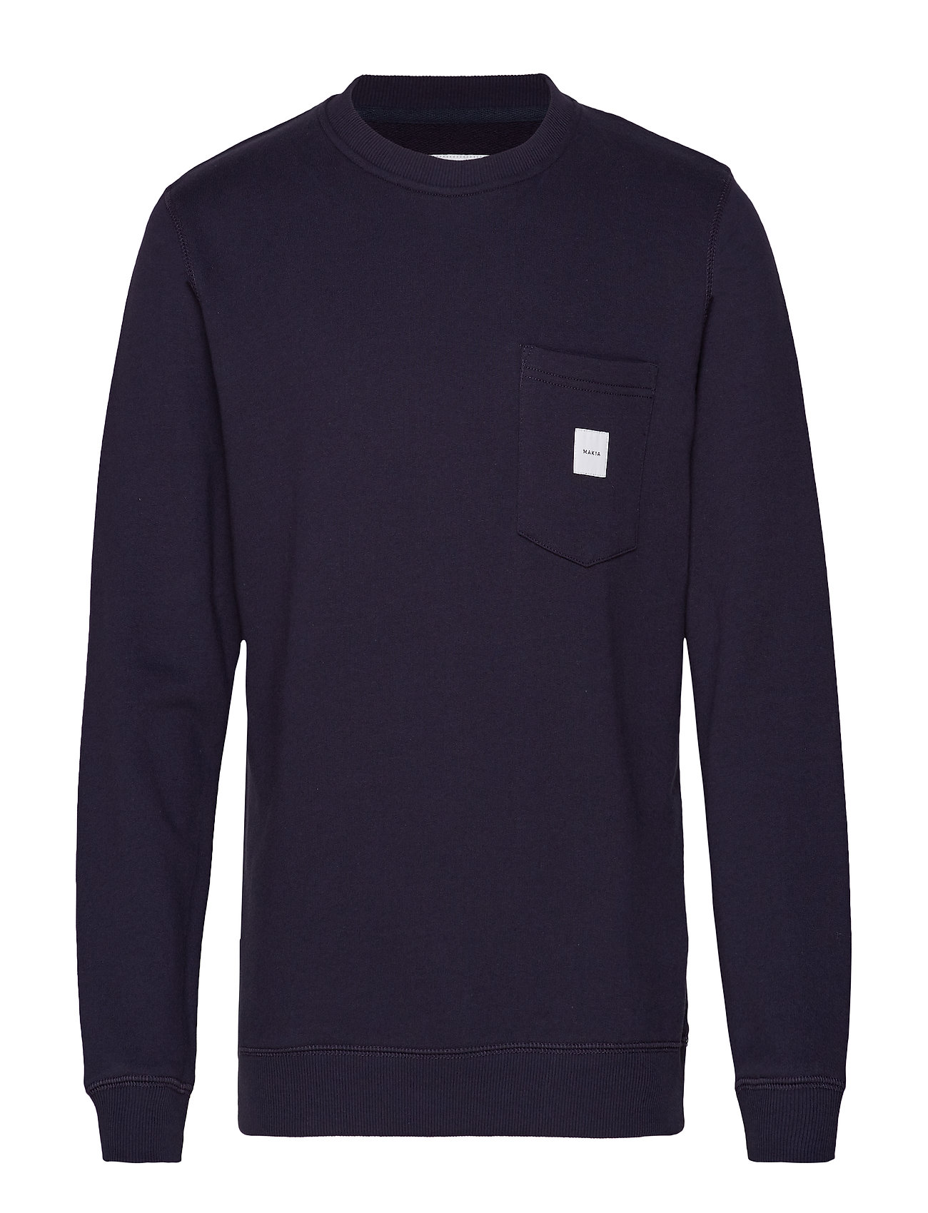 Makia SQUARE POCKET SWEATSHIRT - DARK BLUE