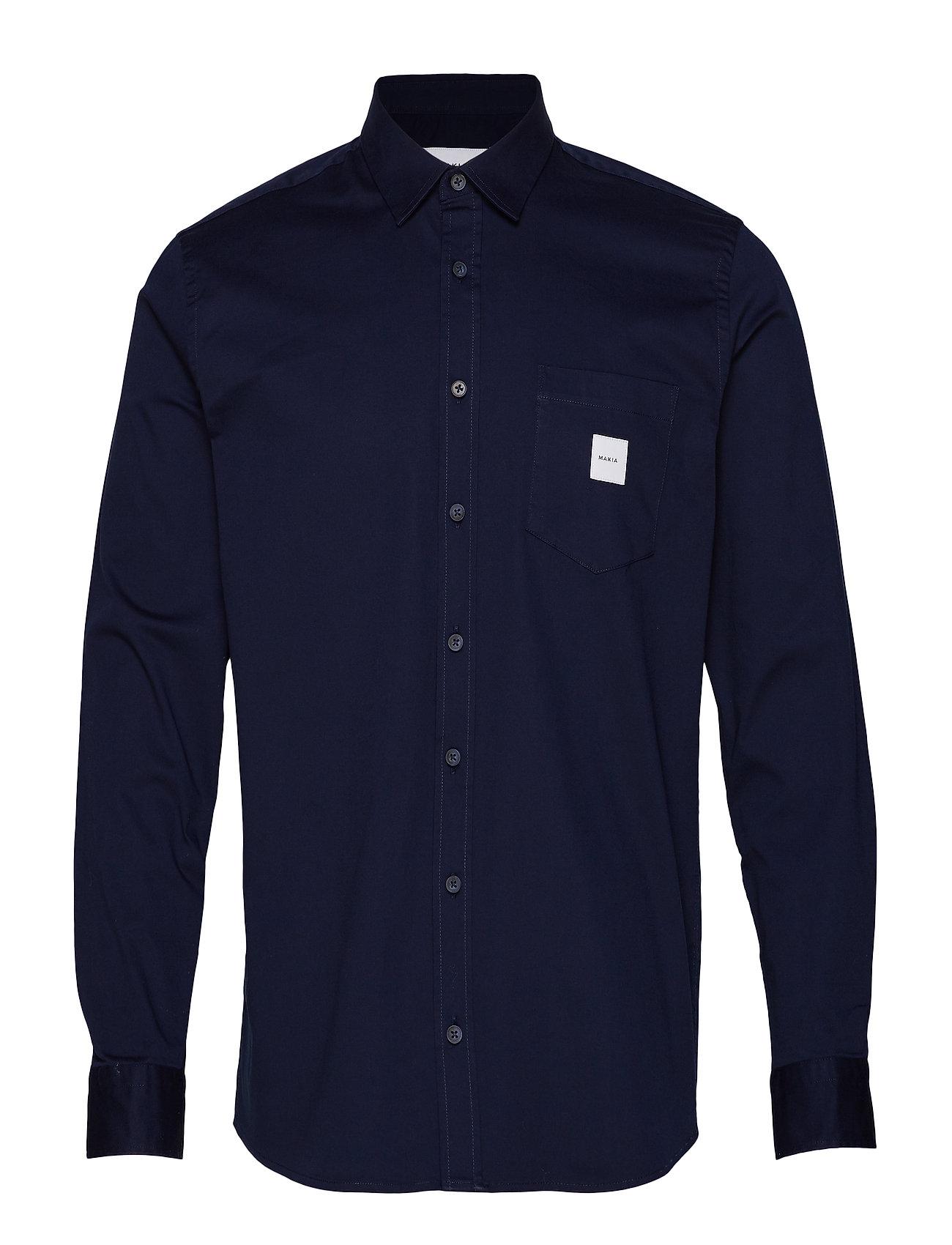 Makia Square Pocket Shirt - DARK NAVY