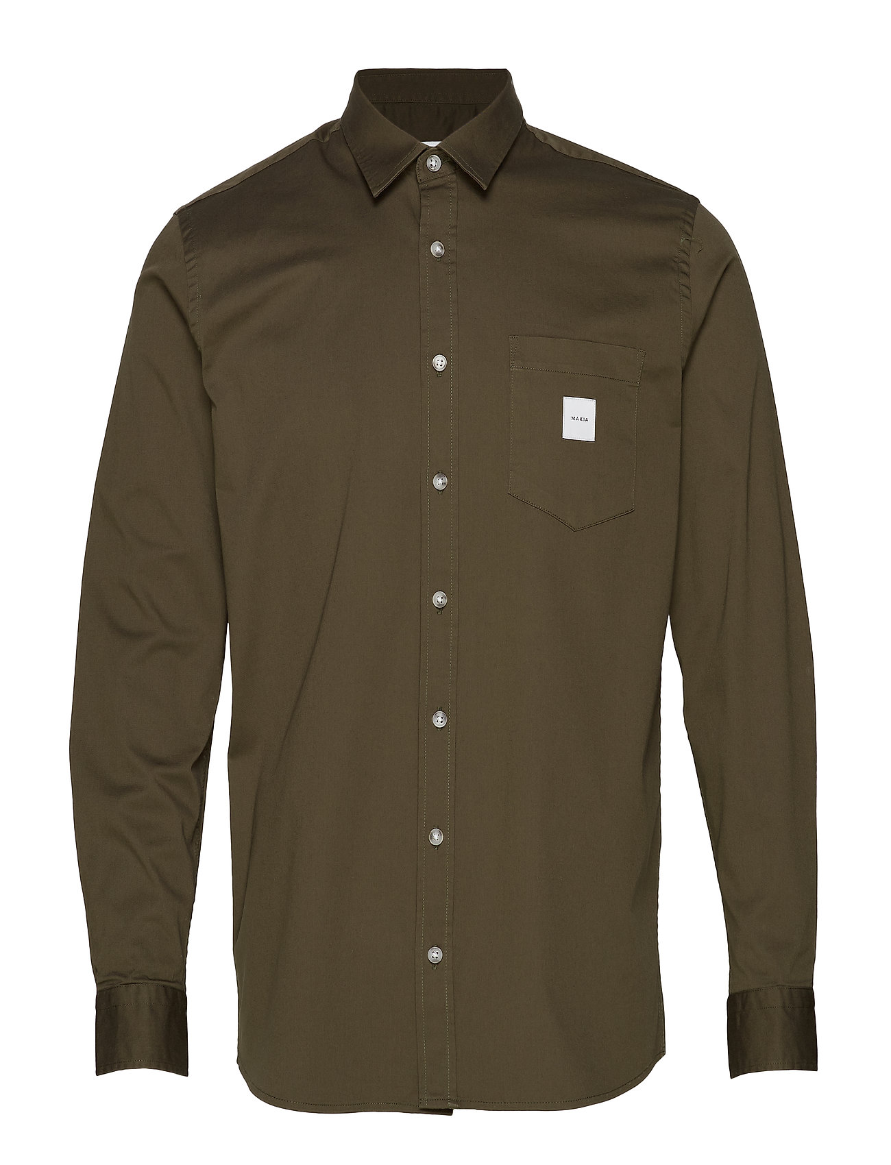 Makia Square Pocket Shirt - GREEN
