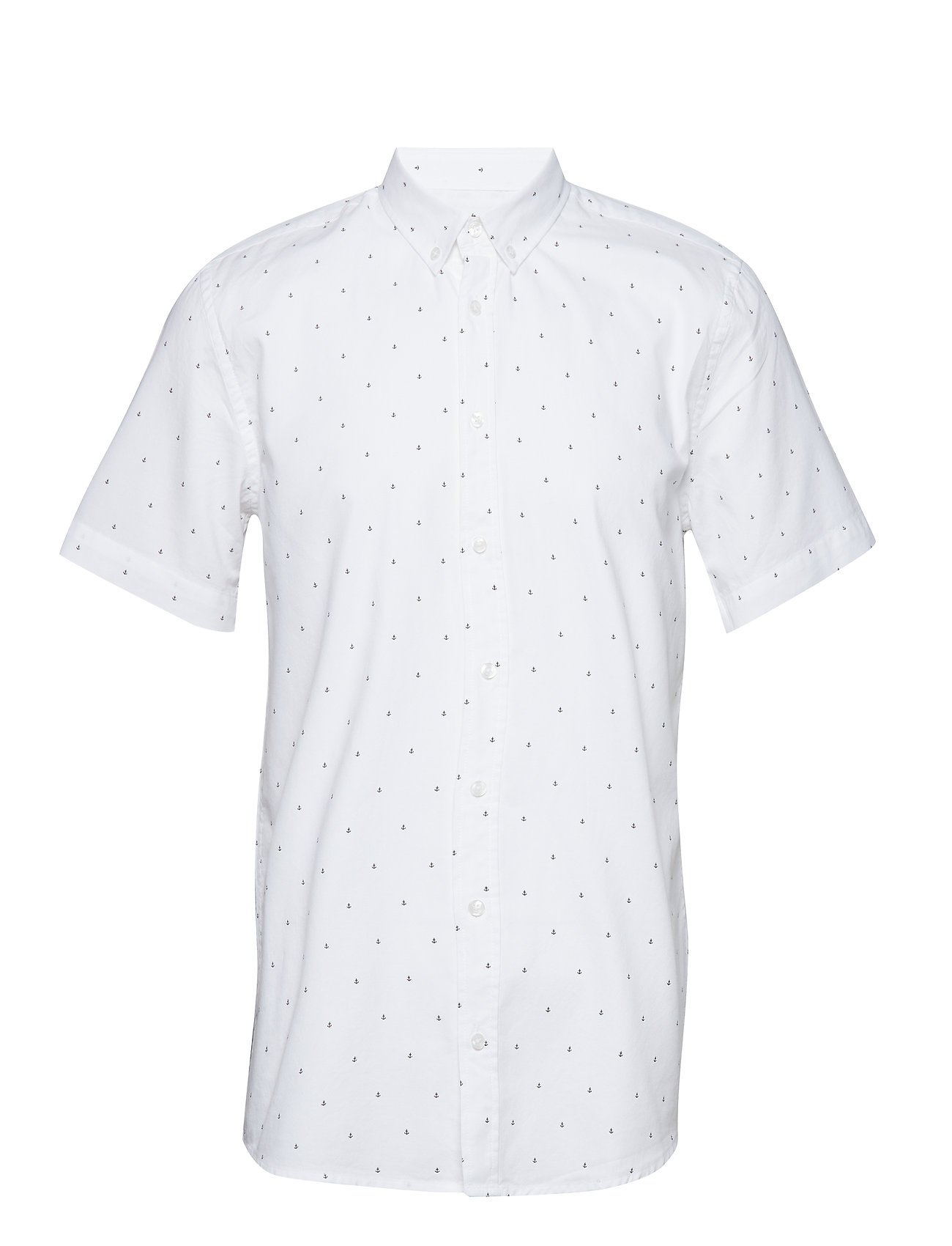 Makia ANCHORS SS SHIRT - WHITE