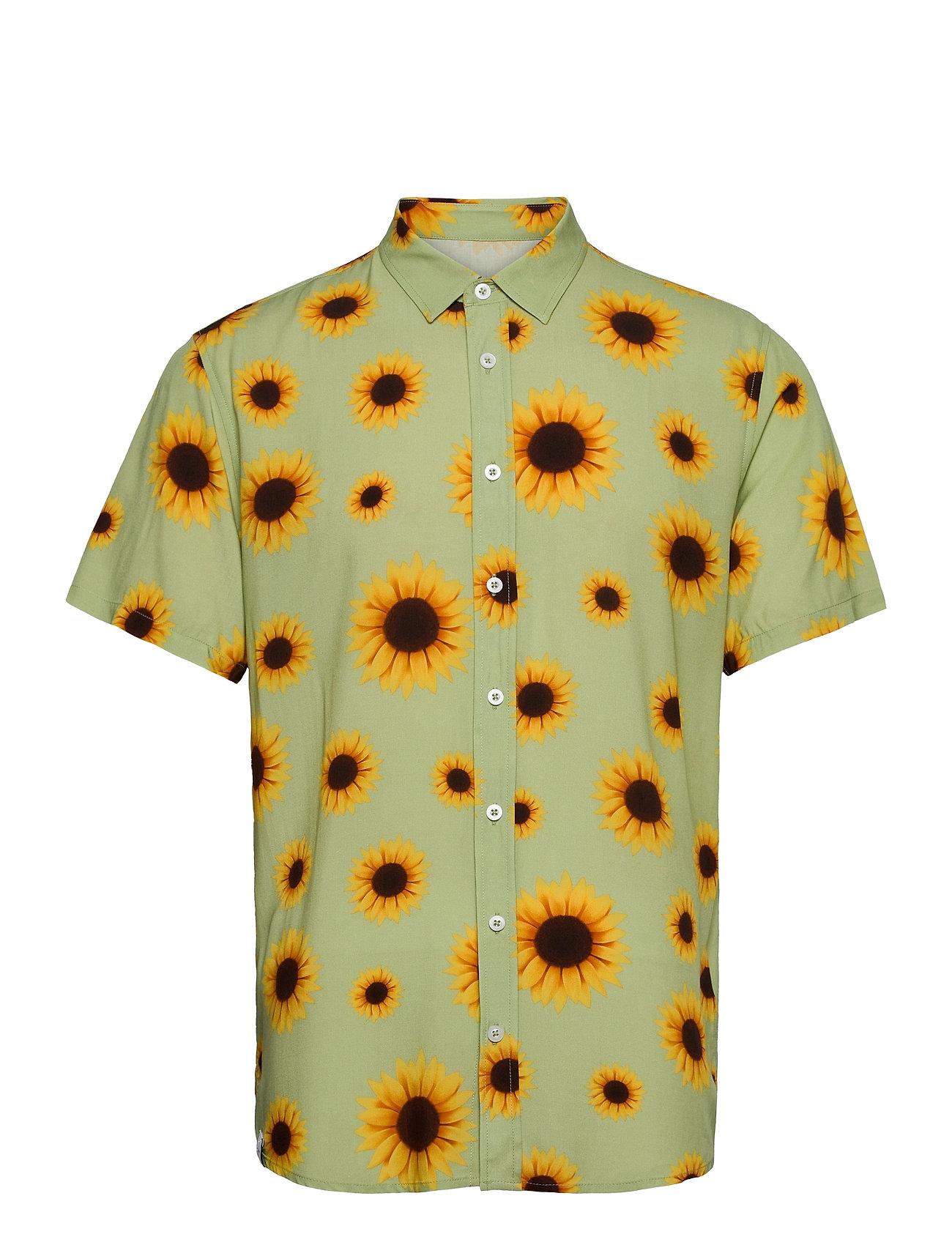 Common Ss Shirt Kortærmet Skjorte Grøn Makia