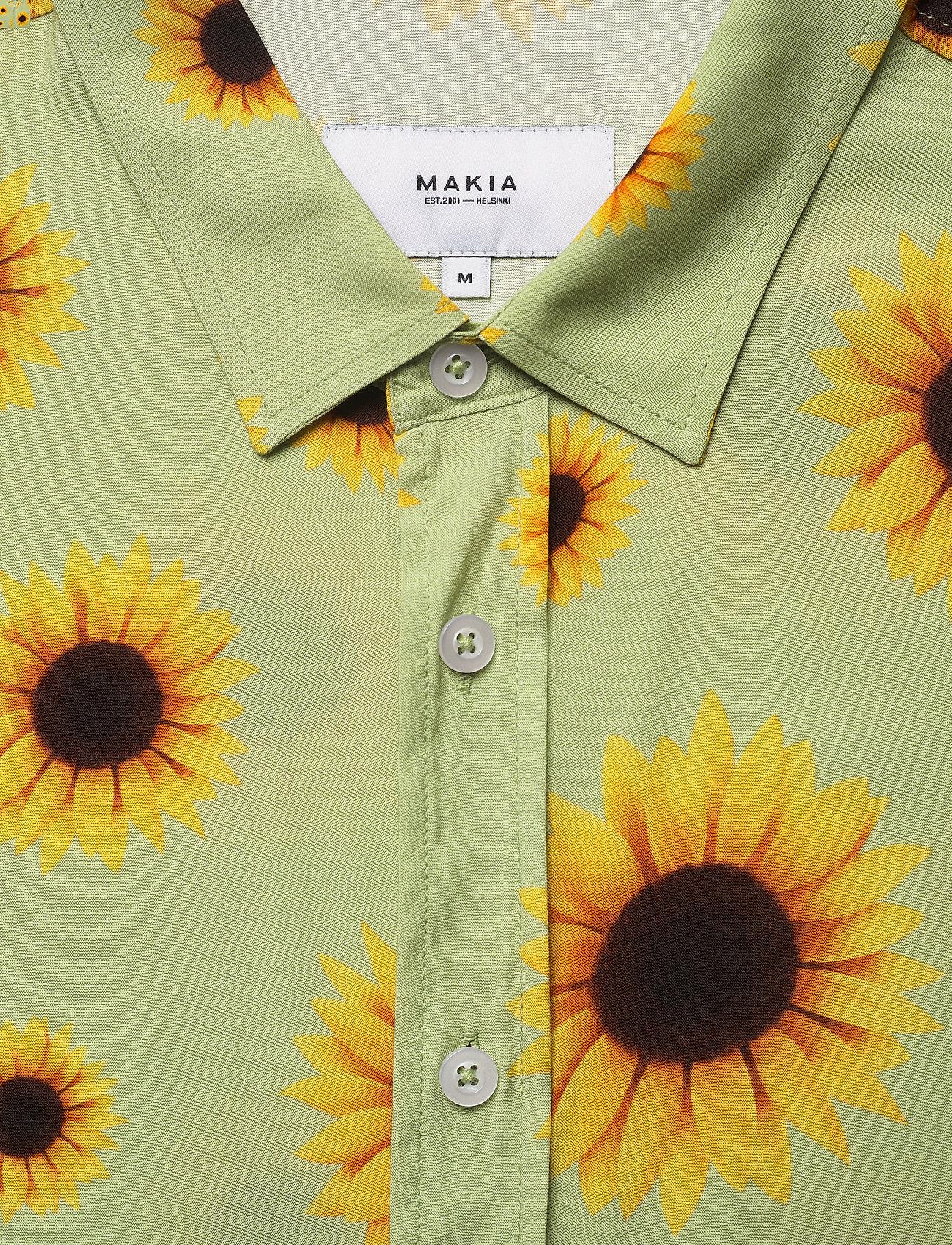 Makia - Common SS Shirt - geruite overhemden - light green - 2
