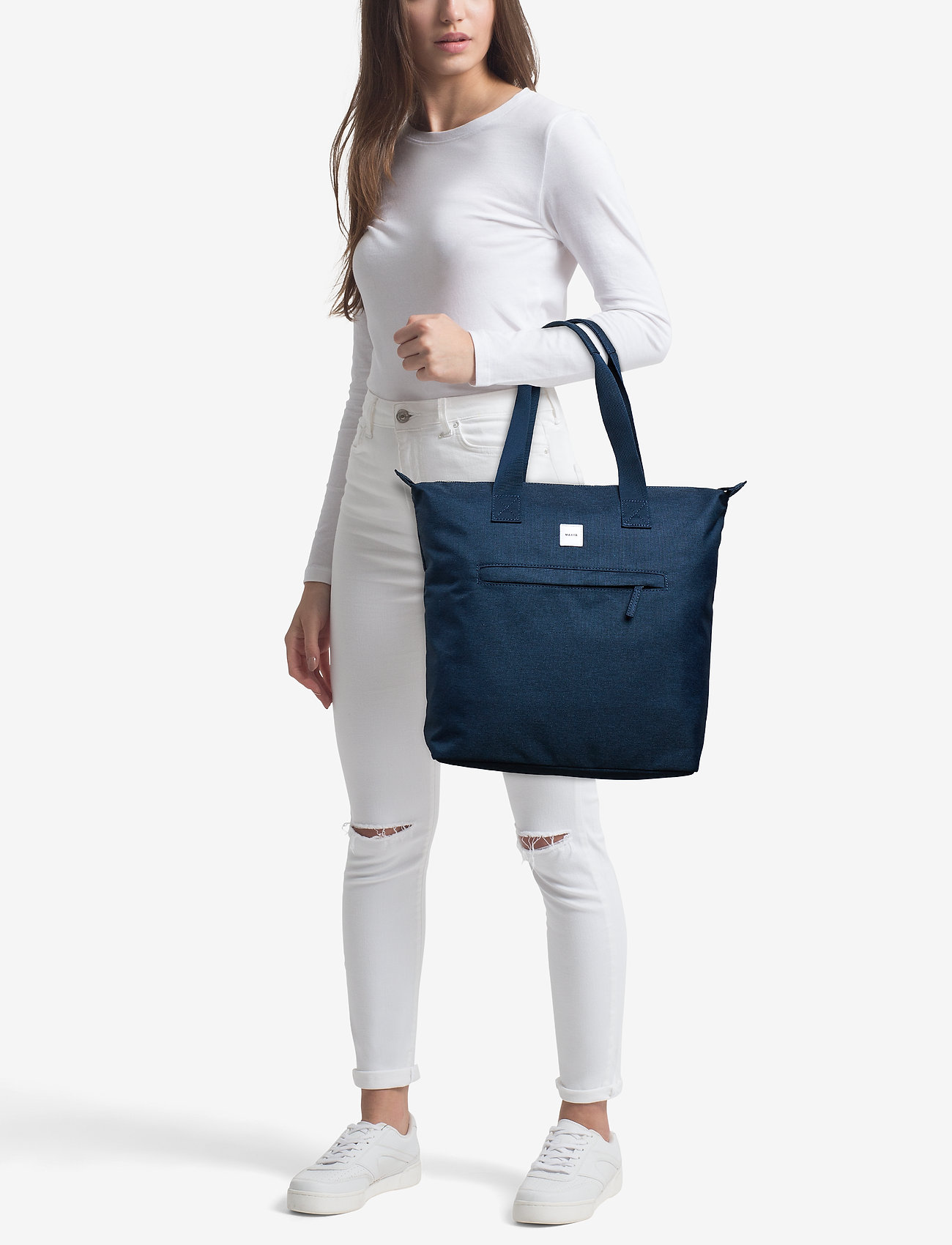 Makia Zip Tote Bag - NAVY