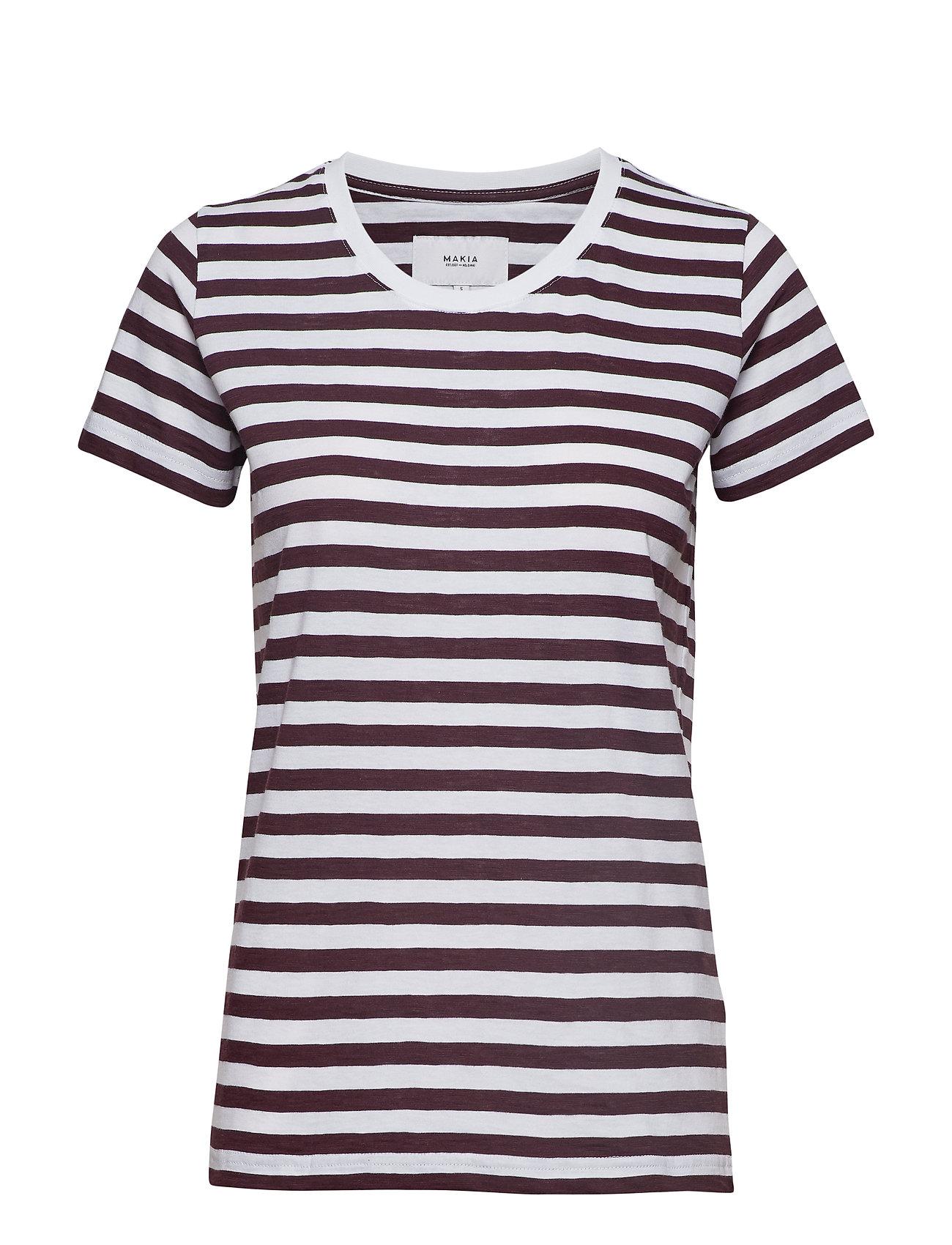 Makia Verkstad T-Shirt - WINE-WHITE