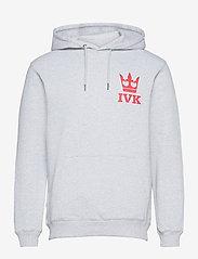 Makia - Stamp Hooded Sweatshirt - sweats à capuche - light grey - 0