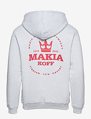 Makia - Stamp Hooded Sweatshirt - sweats à capuche - light grey - 1