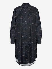 Makia - Raven Shirt Dress - skjortekjoler - dark blue - 0