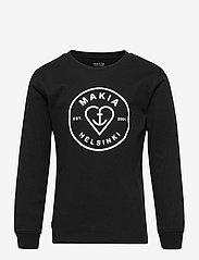 Makia - Knot Long Sleeve - sweatshirts & hættetrøjer - black - 0