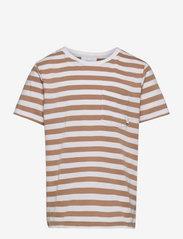 Verkstad T-Shirt - CAMEL-WHITE