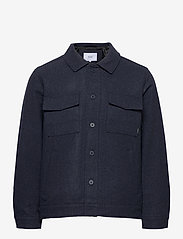 Makia - Hacienda Jacket - wool jackets - navy melange - 1