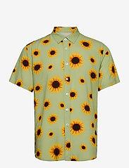 Makia - Common SS Shirt - geruite overhemden - light green - 0