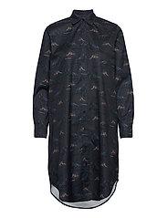 Raven Shirt Dress - DARK BLUE