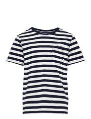 Verkstad T-Shirt - NAVY-WHITE