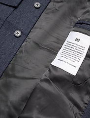 Makia - Hacienda Jacket - wool jackets - navy melange - 7