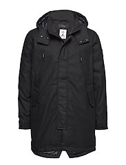 FISHTAIL PARKA - BLACK