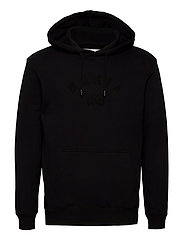 Brand Hooded Sweatshirt - BLACK