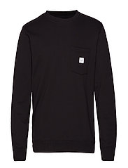 SQUARE POCKET SWEATSHIRT - BLACK