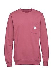 SQUARE POCKET SWEATSHIRT - MAUVE
