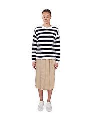 Makia - Willow Knit - trøjer - navy-white - 0